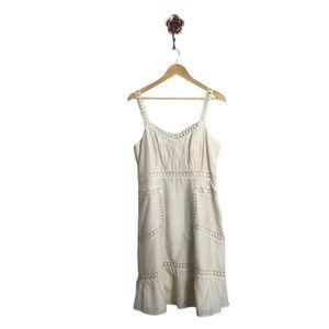 Sundance Cream Crochet Dress